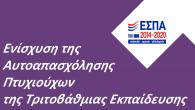 Πρόγραμμα ανοικτών ενημερωτικών εκδηλώσεων για την παρουσίαση της δράσης του ΕΠΑνΕΚ «Ενίσχυση της Αυτοαπασχόλησης Πτυχιούχων Τριτοβάθμιας Εκπαίδευσης – Β΄ Κύκλος»